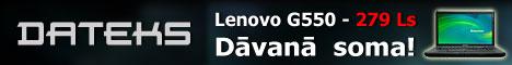 Lenovo G550 par supercenu - 279 latiem. Dāvanā soma!